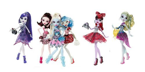 Exclusive Monster High Dot Dead Gorgeous Complete Set of 6 - Spectra Vondergeist, Abbey Bominable, Operetta, Lagoona Blue, Draculaura, Ghoulia Yelps