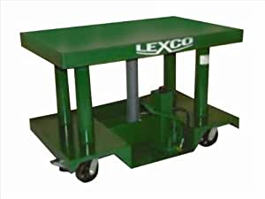 Wesco 496055 Foot Pump or Powered Hydraulic Lift Table 5000 Lb - 44 in. Raised Height