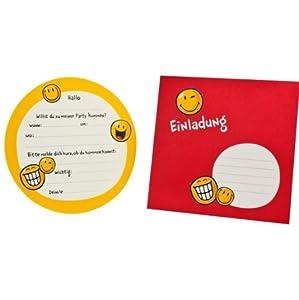 8 einladungskarten smiley spielzeug for Amazon einladungskarten