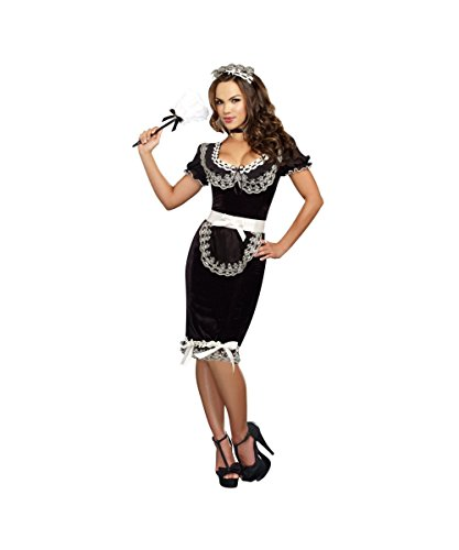 Keep It Clean Sexy French Maid Plus size Womens Halloween Costume