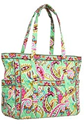 Vera Bradley Get Carried Away Tote in Tutti Fruiti with Solid Pink Interior