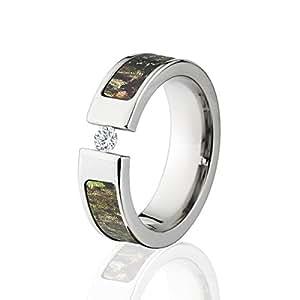 Amazon Tension Set Diamond Camo Rings Camo Wedding Rings Mossy Oak Obsession The Jewelry