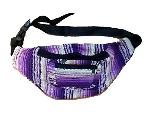 Fabric Fanny Pack - High Quality - Color Patterns May Vary - Handmade in Guatamala (Hippie Fanny Pack compare prices)