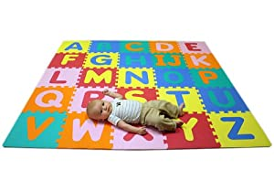 Soft Foam Alphabet Baby Puzzle Play Mat - 26 Letter Set