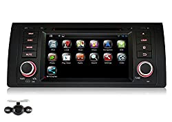See Pumpkin Android 4.4 Single Din In Dash 7 inch HD Touch Screen Car DVD Player GPS Navigation Stereo Support Bluietooth/USB/SD/FM/AM Radio/3G/Wifi/1080P/DVR/OBD2 With Free Backup Reverse Camera For BMW E39/E53/M5 Details
