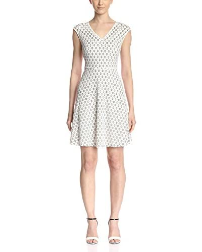 London Times Women's Lace Fit-and-Flare Dress