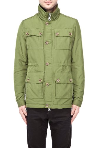 Affordable J. Lindeberg Men's Foreman Dressed Canvas S Green Denim Jackets  for Mens