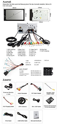 NAVISKAUTO-7-Autoradio-Car-Stereo-Auto-Digital-Touchscreen-1024x600-2-DIN-Universal-Android-44-Quad-Core-Navigation-Untersttzt-DAB-RadioAMFM-Tuner-USB-Port-Micro-SD-Slot-BluetoothRckfahrkamera-iPod-In