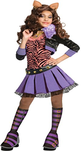 Girls Mh Clawdeen Wolf Deluxe Ch Kids Child Fancy Dress Party Halloween Costume