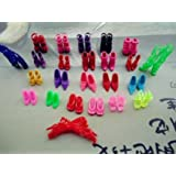 Domire 20 Pairs of Doll Shoes Fit Barbie Dolls