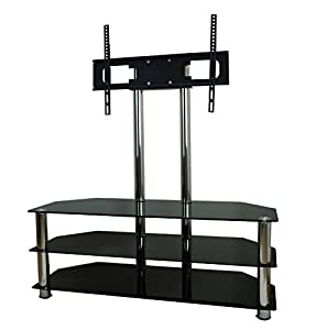 Buying Guide of  Mountright Cantilever Glass TV Stand For Up To 60″ LED