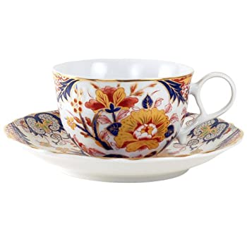 Imari Camellia Cup and Saucer