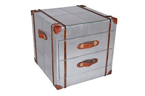 Mobile realizzato in alluminio comò due cassetti Aereo riciclaggio