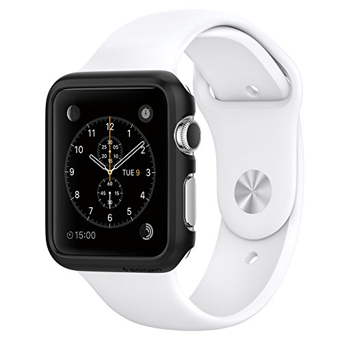 Apple Watch ケース, Spigen® [パーフェクト-フィット] シン・フィット アップル ウォッチ (42mm) 【国内正規品】 (2015) (スムース・ブラック【SGP11498】)