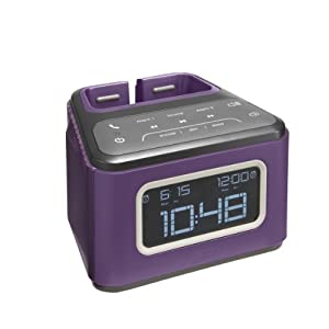 HMDX JAM ZZZ Wireless Alarm Clock, HX-B510PU (Purple)
