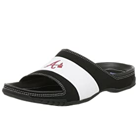 <b>Reebok Men's MLB Braves Upscale Slide,Black/White,12 M</b>