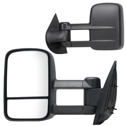 41SzaoFjT%2BL Fit System 62077 78G Chevrolet/GMC Driver/Passenger Side Replacement Manual Foldaway Towing Mirror Set with Dual Glass