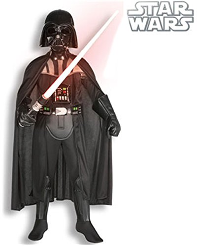 Kid's Deluxe Star Wars Darth Vader Costume And Lightsaber Bundle