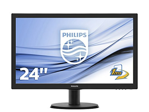 """Philips 243V5LHSB  Écran PC Gaming 23.6""""  (Full HD 1920 x 1080, 1 ms, VGA/HDMI/DVI)"""