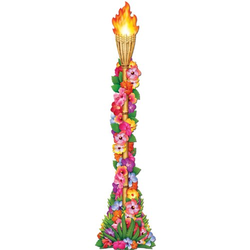 Jointed Flower Tiki Torch - 4'