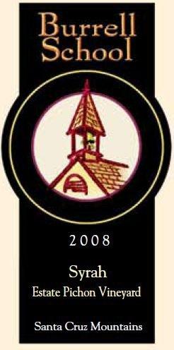 2008 Burrell School Vineyards Santa Cruz Mountains Estate Syrah 750 Ml
