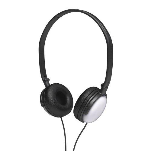 Coby Cv135Svr Dj Style High-Performance Stereo Headphones, Silver