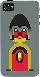 DailyObjects Black Alphabet Man Case For iPhone 4/4S (Back Cover)
