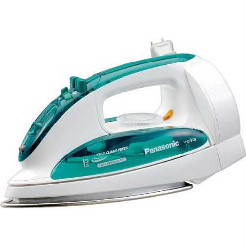 New - 1200-Watt Steam Iron with Curved Soleplate and Retractable Cord Reel by Panasonic
