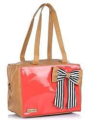 3 Mad Chicks Women's Handbag (Tan And Coral) (SH045 (Tan And Coral))