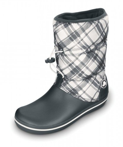 CROCS Schuhe - Stiefel CROCBAND WINTER BOOT PLAID - graphite oyster