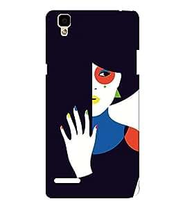 EPICCASE intriguing lady Mobile Back Case Cover For Oppo F1 (Designer Case)