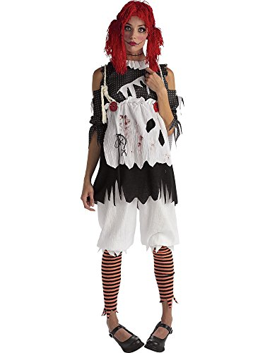 Teen  (Red And Black Rag Doll Wig)