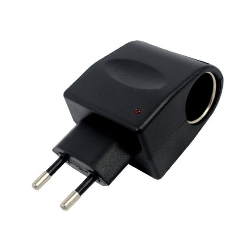 Brand New Flat Universal Ac To Dc Car Cigarette Lighter Socket Adapter