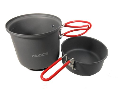 1-2 Person Camping Cooking Pot Set Campfire Pot Camping Cookware 450g