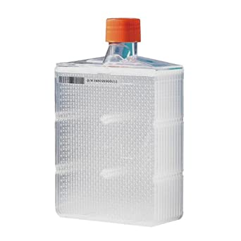 Corning 10030 Polystyrene 560mL Rectangular CellBIND Surface Treated HYPERFlask M Cell Culture Vessel with Bar Code, Individually Double Bagged (Case of 4)