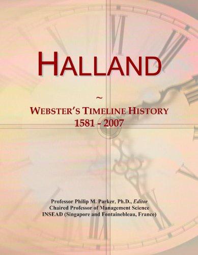Halland: Webster's Timeline History, 1581 - 2007