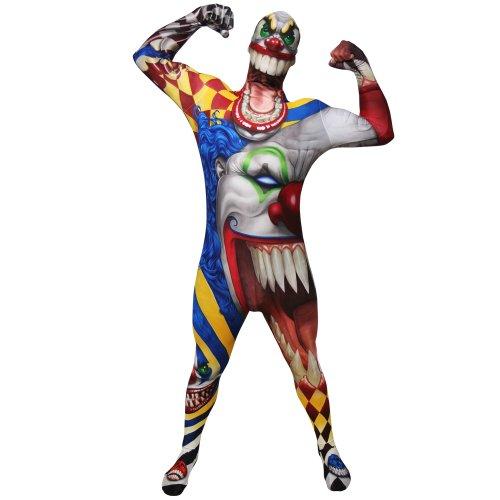 Morphsuits - Costume da Clown dell'orrore, Adulto, taglia: L