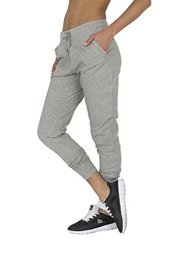 RBX Active womens Full Length Cotton Jogger,Light Grey Heather,Large