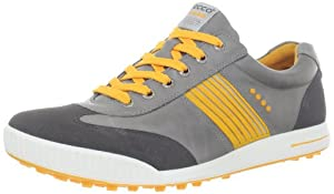 ECCO Men's Golf Street Sport Shoe,Dark Shadow/Wild Dove/Fanta,45 EU/11-11.5 M US