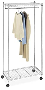 Whitmor 6058 90 supreme garment rack chrome for Covered clothes rack ikea