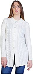 Montrex Women's Plain Coats (Montrex-6412White, White, XL)