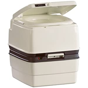 Thetford 25112 Porta Potti 365  Level Gauge and Lid Latch with Piston Pump Flush at Amazon.com