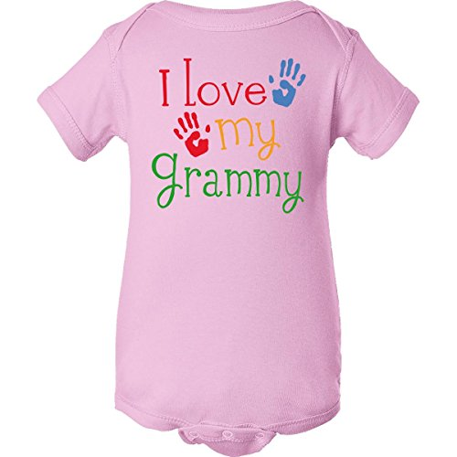 Inktastic Unisex Baby I Love My Grammy Infant Creeper 6 Months Pink front-648414