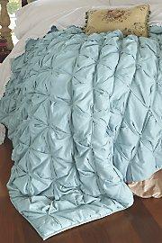 Ingrid Smocked Quilt - Pale Blue front-540459