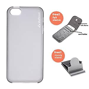 Stuffcool Lisse Soft Back Case Cover for Apple iPhone 5 / 5S / SE - Tinted Grey (LSIP5S-TGRY)
