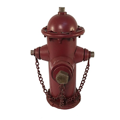 "Blue Sky Ceramic Fire Hydrant Bank Home Decor, 10"" x 6.5"" x 6"""