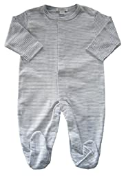 Kissy Kissy Essentials Stripe Footie - Grey-NB