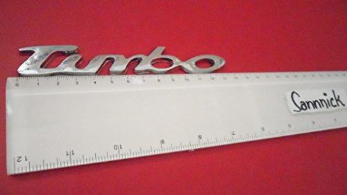 TURBO Silver Argent ABS BADGE EMBLEM CAR AUTO VOITURE ABZEICHEN EMBLEME STICKER CHROME DECAL DECO LOGO uk