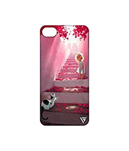 Vogueshell Girl And a Cat Printed Symmetry PRO Series Hard Back Case for Apple iPhone 6