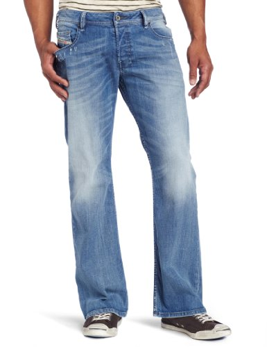 Diesel Men's Zathan Regular Bootcut Fit Jean